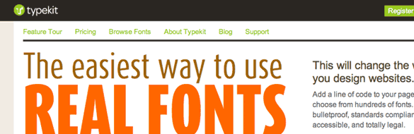 Typekit: A review of the custom font embedding service